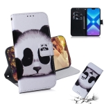 Panda Pattern Coloured Drawing Horizontal Flip Leather Case for Huawei Honor 8X, with Holder & Card Slots & Wallet