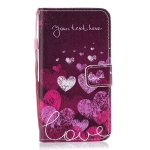 Letter Heart Pattern Horizontal Flip Leather Case for Huawei Y7 (2019), with Holder & Card Slots & Wallet