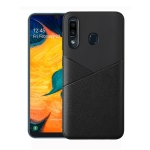 Ultra-thin Shockproof Soft TPU + Leather Case for Huawei Honor 8X (Black)