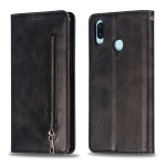 Calf Texture Zipper Magnetic Horizontal Flip Leather Case for Huawei nova 3i, with Wallet & Holder & Card Slots (Black)