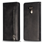 Calf Texture Zipper Magnetic Horizontal Flip Leather Case for Huawei Mate 20 Lite, with Wallet & Holder & Card Slots (Black)