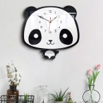 Creative Home Office Bedroom Decoration Panda Swing Acrylic Wall Clock
