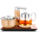 Automatic Add Water Full Intelligent Electric Stainless Steel Kettle Steam Boiled Tea Stove Set (Gold)