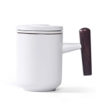 Portable Office Ceramic Mug Filter Teacup with Cover (Purple)