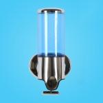 Hotel Shower Manual Dispenser Wall Mounted Washing Liquid Shampoo Soap Bottle, Capacity: 500ml(Blue)