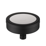 Removable and Washable Steel Round Pressurized Top Spray Shower Head, Size: 118mm (Black)