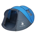 HUILINGYANG Outdoor Camping Double-layer Rainproof  One-bedroom One-bedroom Automatic Tent 4-6 People Quickly Open Tent, Size: 380x260x130cm(Blue)