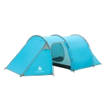 HUILINGYANG Outdoor Camping Double-layer One-bedroom One-bedroom Tunnel Shape Rainproof Camping Tent, Size: 425x200x130cm (Blue)