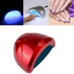 SUNone 24W / 48W UV LED Nail Lamp Fingernail Gel Curing Dryer with Infrared Sensor & Time Setting (Red)