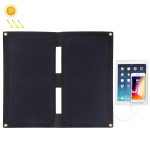 HAWEEL 14W 2-Fold Solar Panel Charger with 5V / 2A Max Dual USB Ports (Black)