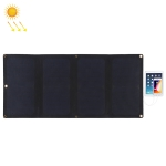 HAWEEL 28W 4-Fold ETFE Solar Panel Charger with 5V / 3A Max Dual USB Ports, Support QC3.0 and AFC(Black)
