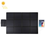 HAWEEL 150W 12-Fold ETFE Solar Panel Charger with 5V / 4.8A USB Port + DC Output (Black)