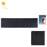HAWEEL 14W 4-Fold ETFE Solar Panel Charger with 5V / 2.1A Max Dual USB Ports, Support QC3.0 and AFC (Black)