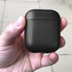 Solid PC Oil Spout Protective Case for AirPods (Black)