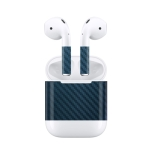 Wired Earphones Charging Box Protective Film Dustproof Sticker for Apple AirPods 1 / 2 (Blue)
