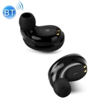 X6 IPX5 Waterproof Bluetooth 4.2 Wireless Touch Bluetooth Earphone with Charging Box, Support HD Call & Smart Chinese Voice Prompts(Black)