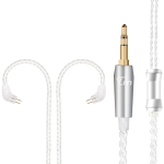 TRN Silver Plated Upgrade Cable Headphones Cable with 0.75mm 2 Pins Connection for TRN V10 V20 Earphone