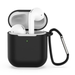 Wireless Earphones Shockproof Silicone Protective Case for Apple AirPods 2 (Black)