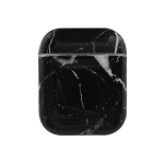 Wireless Earphones Marble Shockproof TPU Protective Case for Apple AirPods (Black)