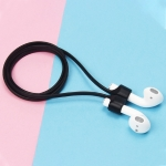 Wireless Bluetooth Headset Anti-lost Rope Magnetic Silicone Lanyard for Apple AirPods (Black)
