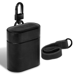Wireless Earphones Shockproof Genuine Leather Protective Case for Apple AirPods (Black)