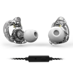 TRN V10 HiFi Monitoring Earphone 0.75mm 2Pin Detachable Cable Earphone, with Mic (White)