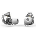 TRN V10 HiFi Monitoring Earphone 0.75mm 2Pin Detachable Cable Earphone, without Mic (White)
