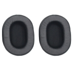 1 Pair Soft Sponge Earmuff Headphone Jacket for Audio-technica ATH-MSR7 / M50X / M20 / M40 / M40X(Black)