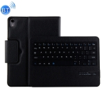 IP011 Detachable Bluetooth 3.0 ABS Keyboard + Litchi Texture Leather Case for iPad Pro 11 inch (2018), with Sleep Function (Black)
