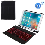 T-201D Detachable Bluetooth 3.0 Ultra-thin Keyboard +  Lambskin Texture Leather Case for iPad Air / Air 2 / iPad Pro 9.7 inch, Support Multi-angle Adjustment / Backlight (Black)