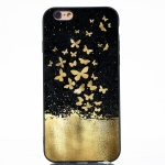 Gold Butterfly Painted Pattern Soft TPU Case for iPhone 6 & 6s