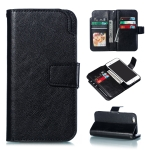 Litchi Texture Horizontal Flip Leather Case for iPhone 6 Plus, with Card Slots & Wallet & Photo Frame(Black)