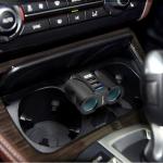 ROCKETEK U2 5V 3.1A QC 3.0 USB + 2 Smart USB Ports 90 Degree Adjustable Car Charger with 2 Cigarette Lighter Sockets