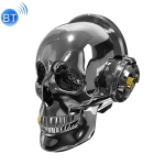Oneder V7  Skull Head Dazzle Bass Box Wireless Bluetooth Speaker, Support Hands-free & FM & TF Card & AUX & USB Drive (Black)
