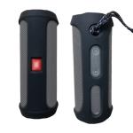 Portable Silica Gel Bluetooth Speaker Protective Case for JBL Flip4 (Black)