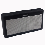 Portable Waterproof Silica Gel Bluetooth Speaker Protective Case for Bose SoundLink III (Black)