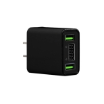 CYKE HKL-USB39 11W 5V / 2.2A Dual USB Travel Charger with Smart Digital Display, US Plug (Black)