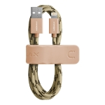 Momax 2.4A 8 Pin Nylon Weave Elite Link Charging Cable, Length : 2m (Gold)