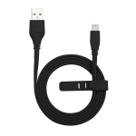 Momax 2.4A 8 Pin Flat Charging Cable, Length : 2m (Black)