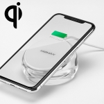 Momax 7.5W/10W Qi Standard Fast Charging Transparent Crystal Wireless Charger for iPhone XS Max / 8 Plus  / Galaxy S9+ / Note8 / Note9