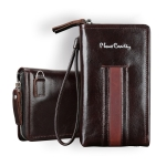 Pierre Cardin PCP-B18 Universial Multi-function Mobile Phone Hand Bag for 5.5 Inch or Below Smart Phones (Black Brown)