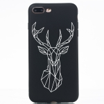 Elk Painted Pattern Soft TPU Case for iPhone 8 Plus & 7 Plus