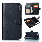 Litchi Texture Horizontal Flip Leather Case for iPhone 7 Plus, with Card Slots & Wallet & Photo Frame (Black)