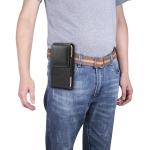 6.9  inch Universal Vertical Lambskin Texture Waist Bag  for Huawei Mate 20x,Xiaomi Max (Black)