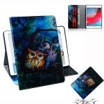 Oil Owl Pattern Horizontal Flip Leather Case for iPad Mini (2019) / 4 / 3 / 2 / 1, with Holder & Card Slot & Wallet
