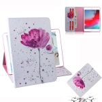 Purple Orchids Pattern Horizontal Flip Leather Case for iPad Mini (2019) / 4 / 3 / 2 / 1, with Holder & Card Slot & Wallet
