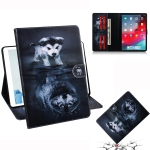 Wolf and Dog Pattern Horizontal Flip Leather Case for  iPad Pro 11 inch (2018), with Holder & Card Slot & Wallet