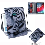 Tiger Pattern Horizontal Flip Leather Case for  iPad Pro 11 inch (2018), with Holder & Card Slot & Wallet