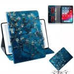 Apricot Blossom Pattern Horizontal Flip Leather Case for  iPad Pro 11 inch (2018), with Holder & Card Slot & Wallet