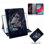 Lion Pattern Horizontal Flip Leather Case for  iPad Pro 11 inch (2018), with Holder & Card Slot & Wallet